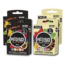 Pack Paquete 20 Condones Condon Prudence Mix Caribbean Preservativos