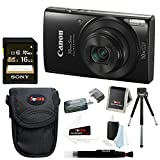 Cheap Canon PowerShot ELPH 190 is 20 MP Digital Camera (Black) w/ 16GB Accessory Bundle