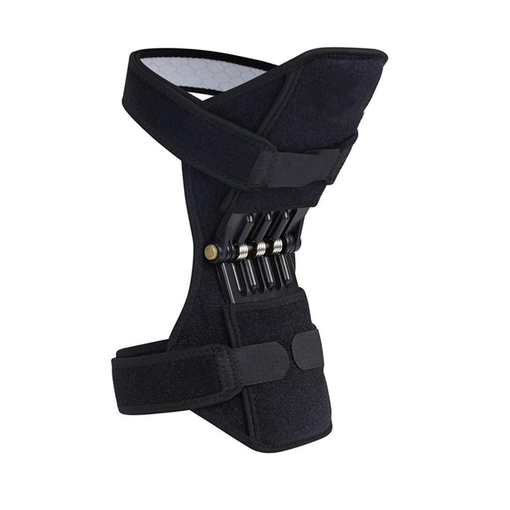 ニーブースターニーブレース脛骨ブースタースプリングニーパッドレーシング登山通気性スウェットニーパッドメニスカスオールドコールドレッグニープロテクションブースター(色:黒、サイズ:2パック),黒、1パック