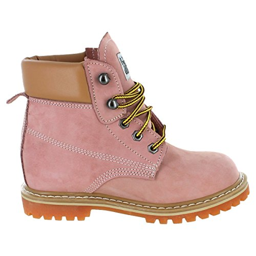 Safety Girl GS004-LTPNK-10.5W Safety Girl II Soft Toe Work Boots - Pink - 10.5W, English, Capacity, Volume, Leather, 10.5W, Pink () by Safety Girl (Image #2)