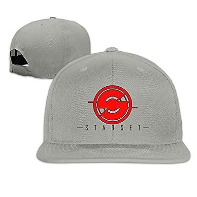 Unisex Starset Logo Adjustable Snapback Baseball Caps 100%cotton Ash One Size