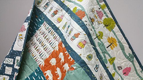 Organic Birch Baby Quilt by Now and Then Quilts