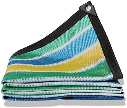 Huo Toldo Vela de Sombra Rayas de Colores, 80% Tela Sombrilla con Borde con Arandelas For Pérgola Piscina Al Aire Libre de Toldo (Size : 2Mx4M): Amazon.es: Hogar