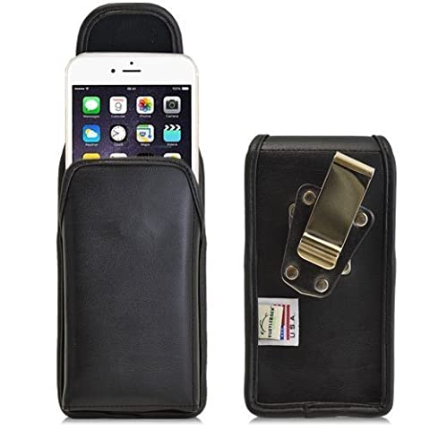 Turtleback Vertical iPhone 6 (4.7) Leather Holster Case Pouch with Heavy Duty Belt Clip - Made in - Iphone Vertical Case