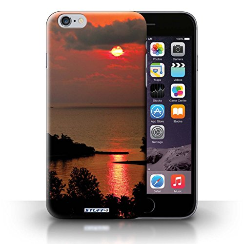 Hülle Case für iPhone 6+/Plus 5.5 / Rote Sonne Entwurf / Sonnenuntergang Collection
