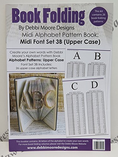 Debbi Moore Book Folding Pattern Book Alphabet Font Set 3B (Upper Case) Debbi Moore Designs