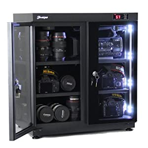 210L Electronic Automatic Digital Control Dry Box Cabinet Storage for Camcorder Dslr Camera Lens DC Etc by Aipo