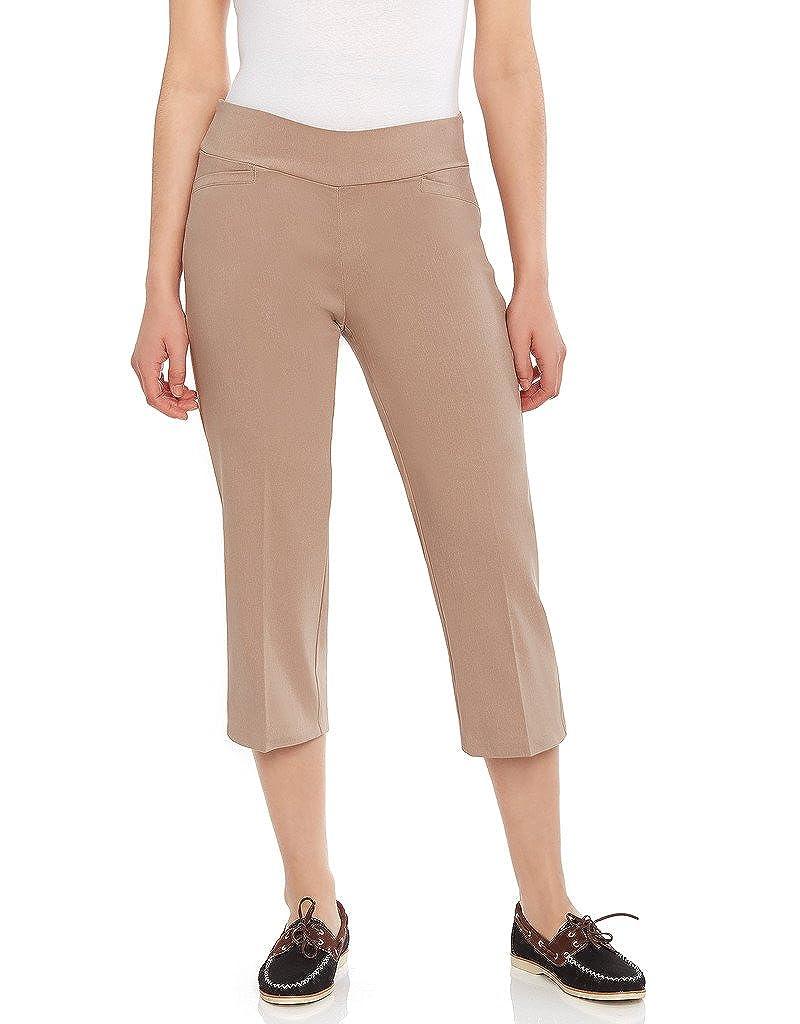 Leveret Womens Pants Pull on Comfort Fit Dress Capri Pants Size 4-18