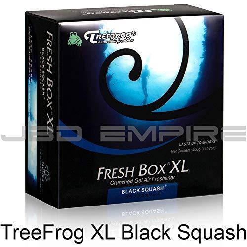JBD Empire Treefrog Xtreme Fresh Box XL Air Freshener Scent Extra Large 400g - Black Squash/Blue Squash/Green Squash/White Peach/New Car (Black - 400g Box