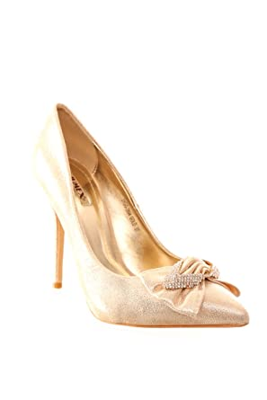 Luxury Shiny Gold HEELS-41: Amazon.co.uk: Clothing