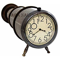Maritime Brass Antique Clock Desk/Table Clock Nautical Item For Gifted