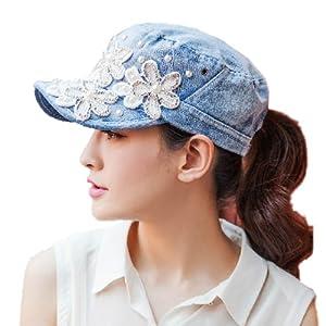 Yimidear Female UV Sun Hat Cowboy Hat Lady Summer Outdoor Sports Visor Cap Women Baseball Cap Peaked Cap