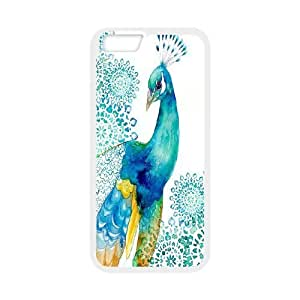 Yo-Lin case FXYL269734Beautiful Peacock pattern protective case For Apple Iphone 6,4.7