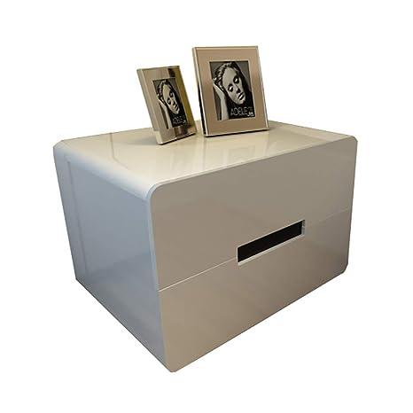 XYW-Bedside Tables Mesita de Noche con 2 cajones, Mesa de ...