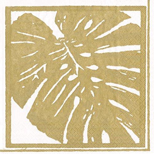 (Caspari Napkins Wedding Napkins Anniversary Party Paper Napkins Cocktail Napkins Gold Leaves Pk 40)