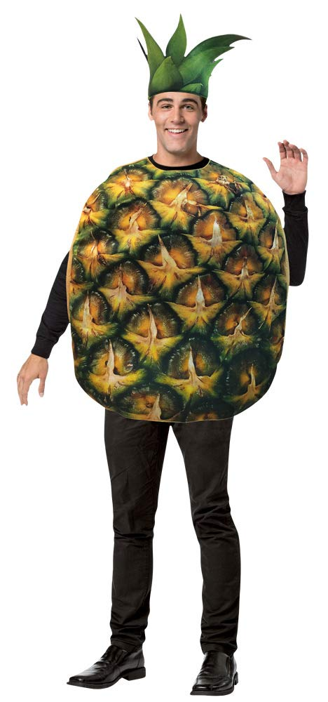 Rasta Imposta Adult Pineapple Costume Yellow