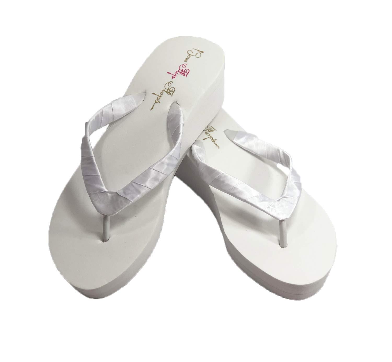 Heel Flip Flops, Plain Ivory