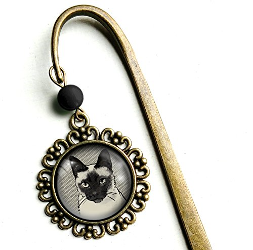 Siamese Cat - brass bookmark by The Divine Iguana