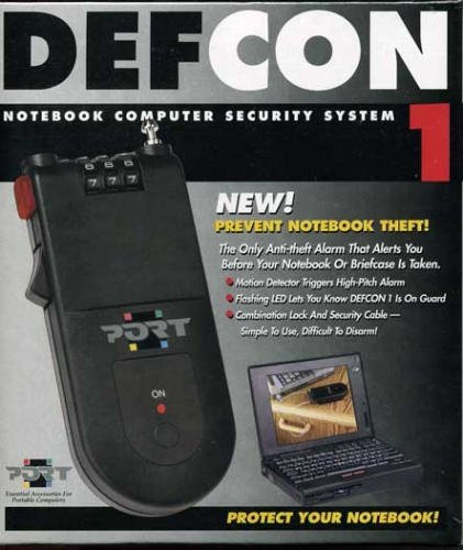 (PORT Defcon 1 - Security lock - black)
