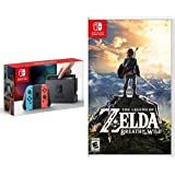 Nintendo Switch Console - Neon Blue and Neon Red Joy-Con Edition & The Legend of Zelda: Breath of the Wild - Switch Edition