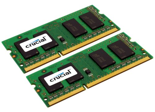 Crucial 2GB (2x1GB) DDR3 1333 MT/s PC3-10600 CL9 SODIMM 204-Pin 1.35V/1.5V Notebook Memory Module CT2KIT12864BF1339 / CT2C12864BF1339 ()