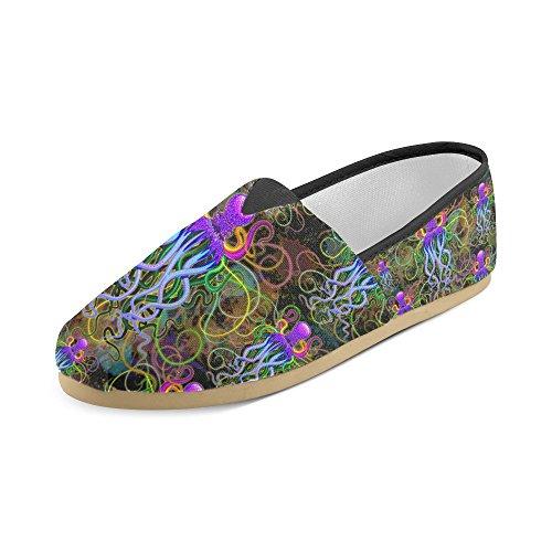 D-story Mode Sneakers Flats Octups Kvinna Klassiska Slip-on Tygskor Loafers