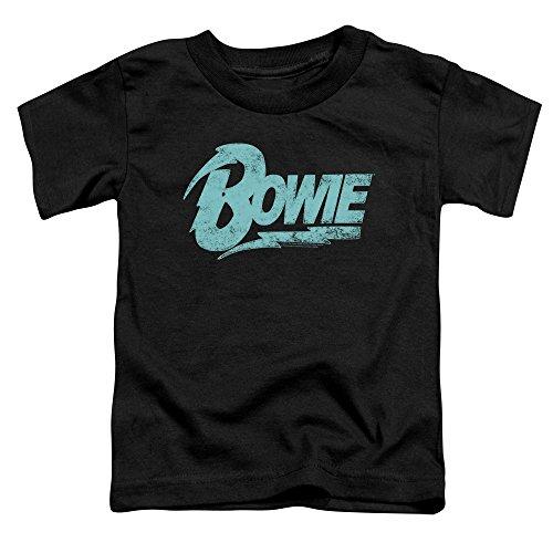 David Bowie Logo Toddler T-Shirt Small Black