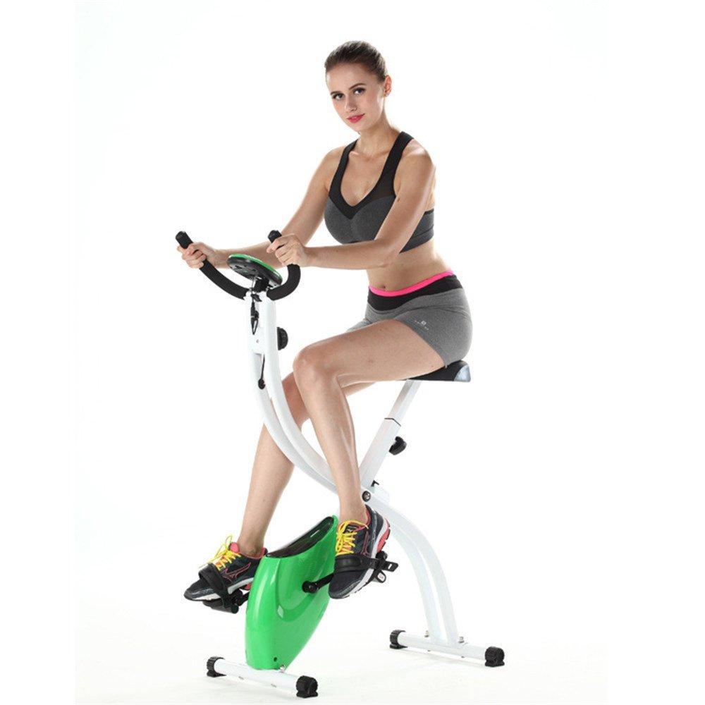 エアロバイク エクササイズバイク、S字型家庭用静音双方向折りたたみ磁気制御フィットネス自転車ジムスピニングバイク   B07Q2LLPL2
