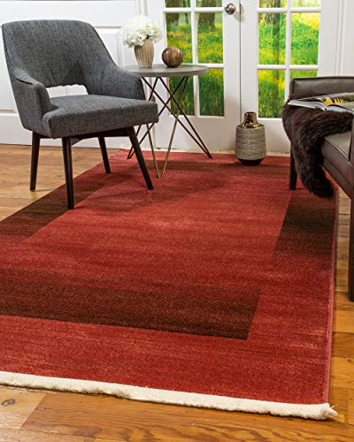 Natural Area Rugs Vintage Oriental Bahama Polypropylene Rectangle Rug (6'X9') Red