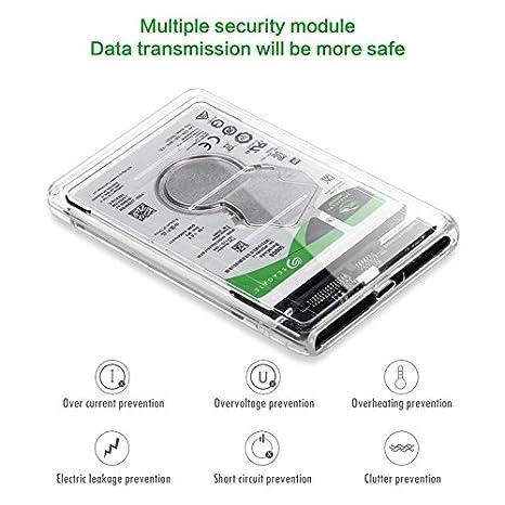 USB-C Tipo C a 2.5 Pulgadas SATA SSD HDD Carcasa Externa ...