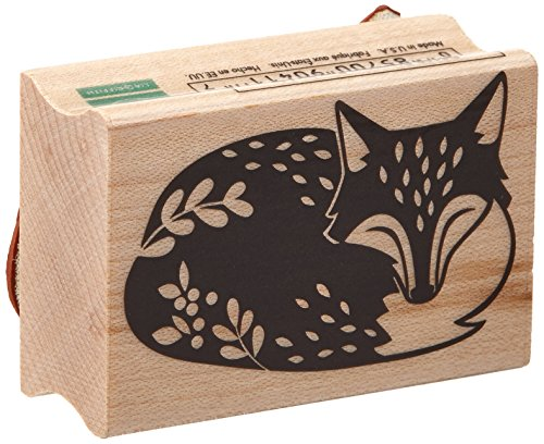 Block Fox (Hero Arts D6109 Sleeping Fox by Lia Wood Block Stamp)