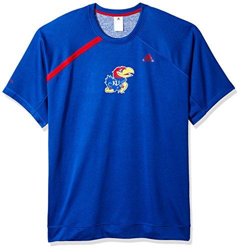 Kansas Jayhawks Adidas Basketball - adidas NCAA Kansas Jayhawks Mens On Court S/Shooting Shirton Court S/Shooting Shirt, Collegiate Royal, XX-Large