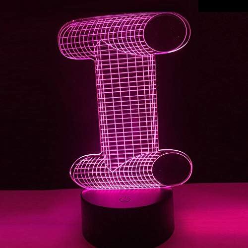 Mozhate Lámpara 3D Alfabeto Letra I Colorida Noche Luz Mesa de ...