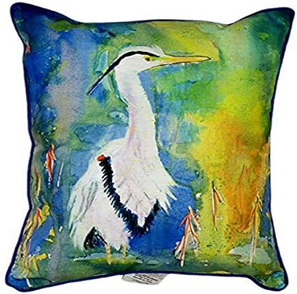Betsy Drake D B s Blue Heron Indoor Outdoor Pillow, 20 x 24