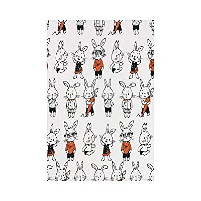 Polyester Garden Flag Outdoor Flag House Flag Banner,Funny,Cute Retro Bunny Rabbits with Costumes Jack Hare Funky Bunnies Carrot Sketch Style,Orange White,for Wedding Anniversary Home Outdoor Garden D