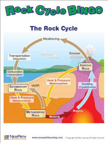newpath learning rock cycle bingo game grade 59 general
