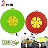 no boil over lid - Spill Stopper Lid Cover Boil Over Safeguard,Silicone Spill Stopper Pot Pan Lid Splatter Guard Screens Steam Rack Pot Holder, Multi-Function Kitchen Cooking Tool