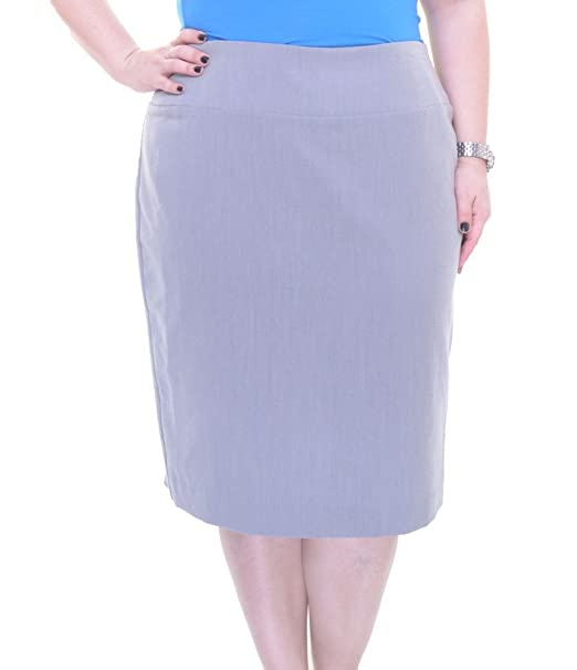 3fbfd0e191 Alfani Women's Classic Pencil Skirt (16, Spring Grey) at Amazon Women's  Clothing store: