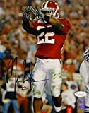 Mark Ingram Autographed Alabama 8x10 Showing Gloves Photo- JSA Witnessed Auth
