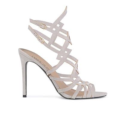 8a1e8203c237b8 Amazon.com   Public Desire Womens Raya Pointed Toe Ankle Boots Sock Fit  Block Heel Shoes Black Faux Suede UK 6 / EU 39 / US 8   Ankle & Bootie