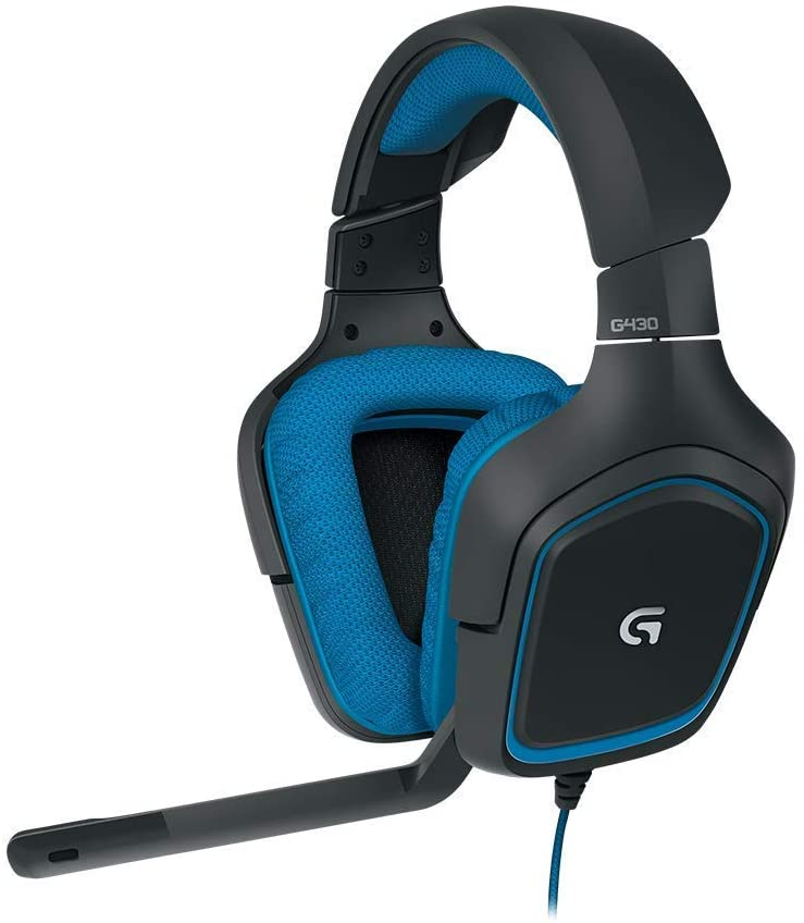 Logitech G430 - Auriculares Gaming (para PC, Xbox One, PS4 y Switch) Color Negro y Azul
