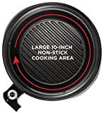 Chefman 3-IN-1 Electric Indoor Grill Pot & Skillet, Versatile - Slow Cook, Steam, Simmer, Stir Fry and Serve, 10-inch Nonstick Raised Line Griddle Pan w/Temperature Control & Tempered Glass Lid, Black