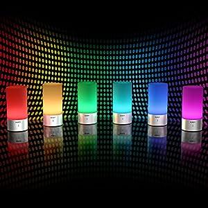 Aukey Lampe Sensitive D'ambiance Éclairage De Tactile Led Chevet WDIEYH29