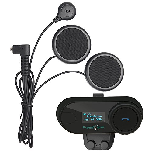 FreedConn Motorcycle Motorbike Helmet Bluetooth Intercom Interphone...
