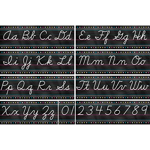 (Teacher Created Resources TCR5858 Chalkboard Brights Cursive Writing Bulletin Board, Paper, Multi)