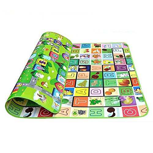Picnic Play Tummy Time Mat - Cido Baby Crawl Camping Picnic Play Game Floor Letter Alphabet Rug Mat 180x200CM