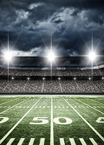 5x7ft sports football soccer stadium themed backdrop for nfl High-grade portrait cloth Computer printed party backdrops ly-1004