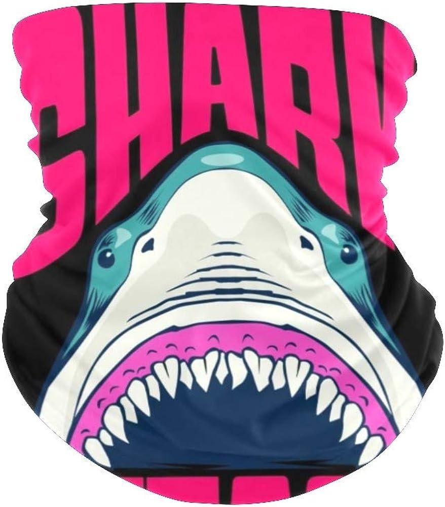 Balaclava Bandanas Face Mask Cover Shark Neck Gaiter for Out Doors, Dust, UV Protection