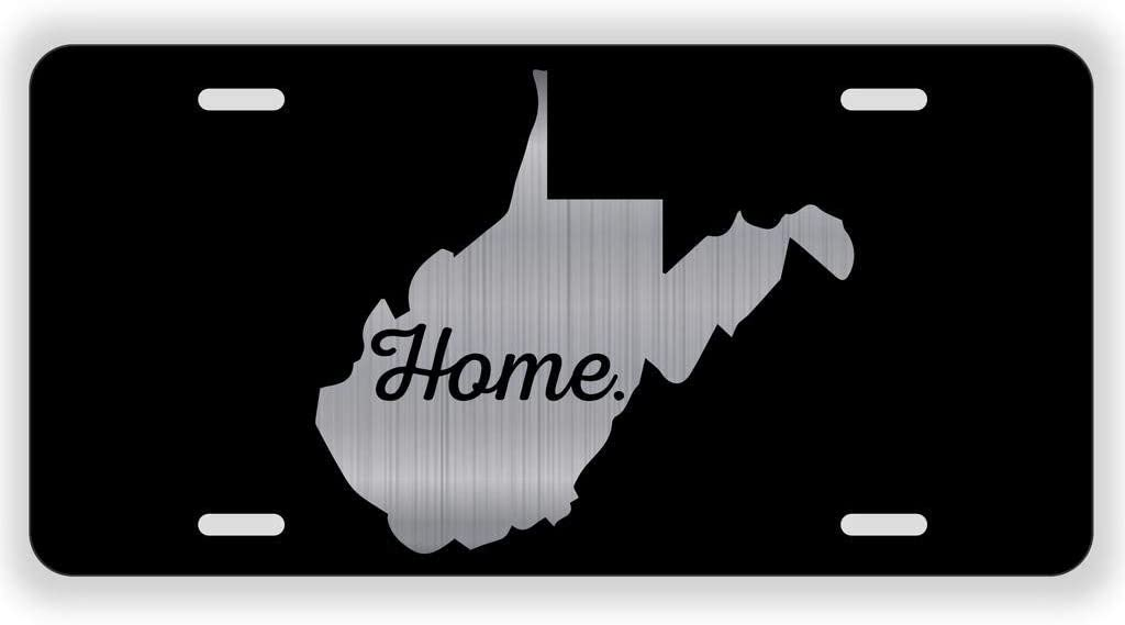 4 Holes Front Car Tag for US Vehicles 12 x 6 Inch URCustomPro West Virginia Home Charleston WV Love Personalized Novelty License Plate Cover Aluminum Metal