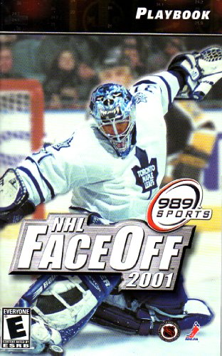 NHL Face Off 2001 PS2 Instruction Booklet   Play Station 2